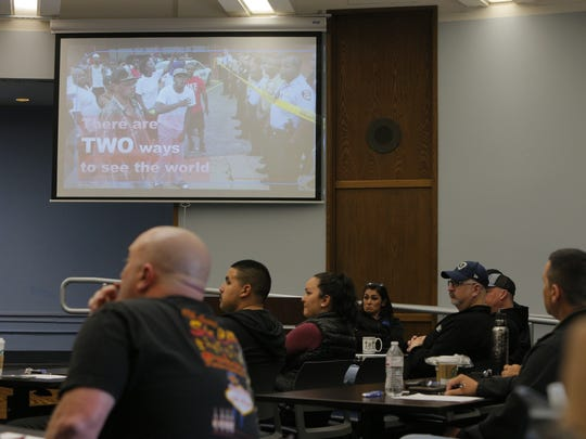 "Salinas police receive training during ""Why'd You Stop Me"" program."