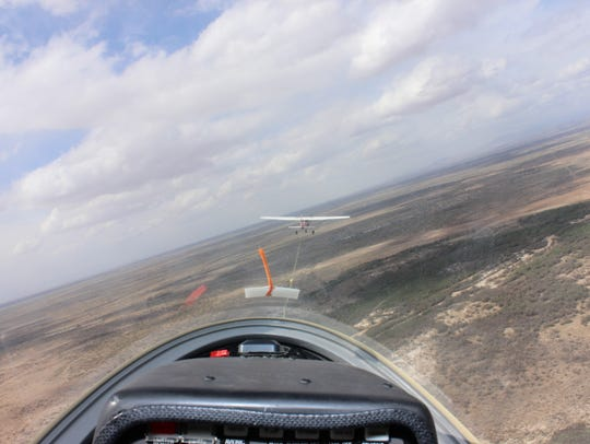 The view from the Grob 103C Twin III SL, named ML,