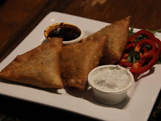 Samosas at Taproot Lounge & Cafe are half price 2 to