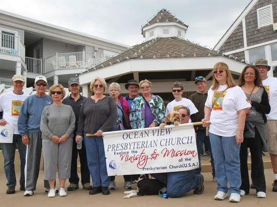 Members of the Ocean View Presbyterian Church take