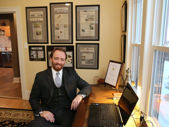 Justin Johnson, shown here in his home office in 2015,