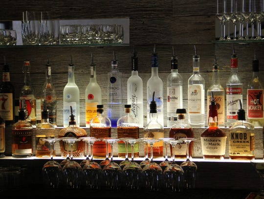 The bar at Amadeus features craft cocktails with fresh-made