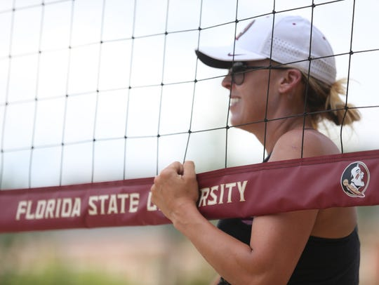 FSU Beach Volleyball Head Coach Brooke Niles has led the Seminoles to Final Four appearances in each of her first two years with the team.