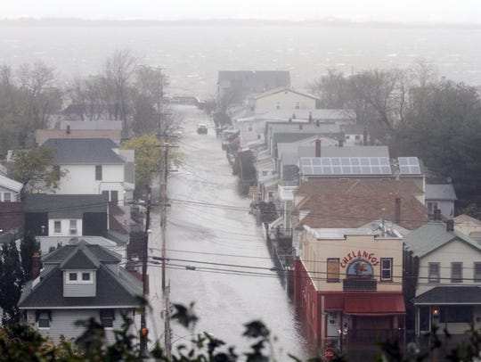 Streets in Highlands were inundated by flood waters