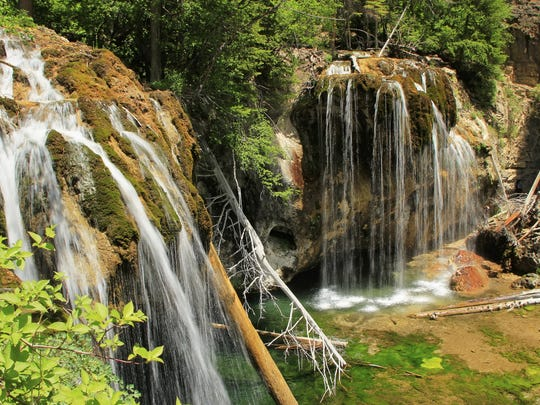 Hanging Lake in Glenwood Canyon features some of Colorado?s most stunning waterfalls.   Getty Images Hanging lake, Glenwood Canyon, Colorado