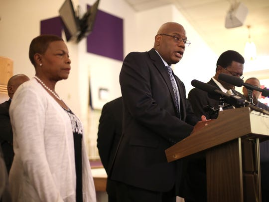 The Rev. R.B. Holmes, along wit other local pastors, called for Sen. Frank Artiles to step down or be removed from the Florida Senate.