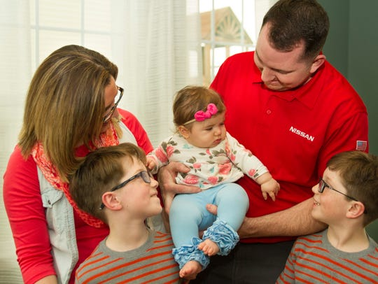 Megan and Michael Hinson recently adopted Gracelyn