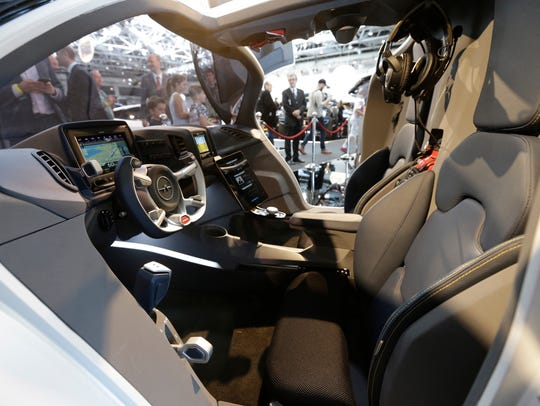 A view of the cockpit as AeroMobil unveils the latest