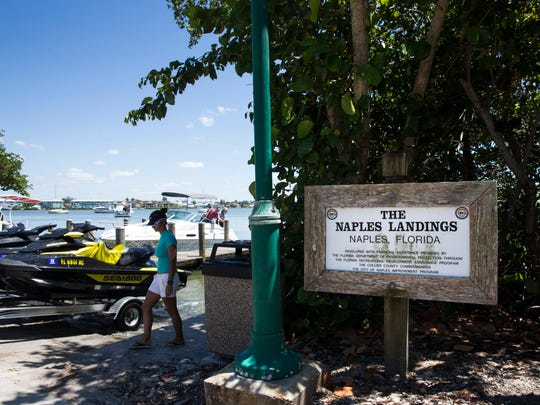 People haul their boats from the access point at Landings Park on Tuesday, April 25, 2017. When the Naples City Dock closes on May 1 for a nine-month rebuild, some fishing, sailing and sightseeing captains will temporarily relocate to Landings Park.