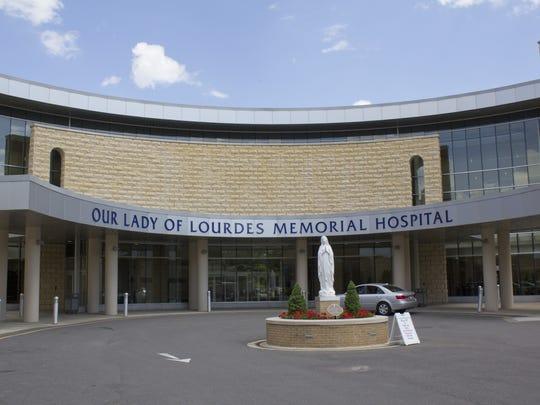 Lourdes Hospital on Riverside Drive in Binghamton.