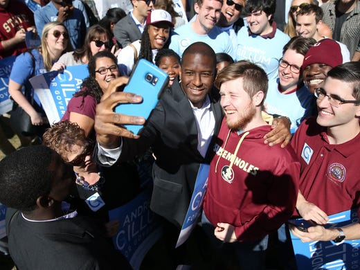 Mayor of Tallahassee, Andrew Gillum, announced his run for