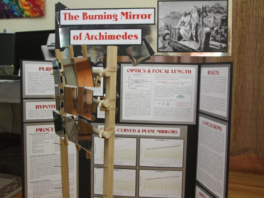 "Ryan Helmer's project, ""The Burning Mirror of Archimedes,"""