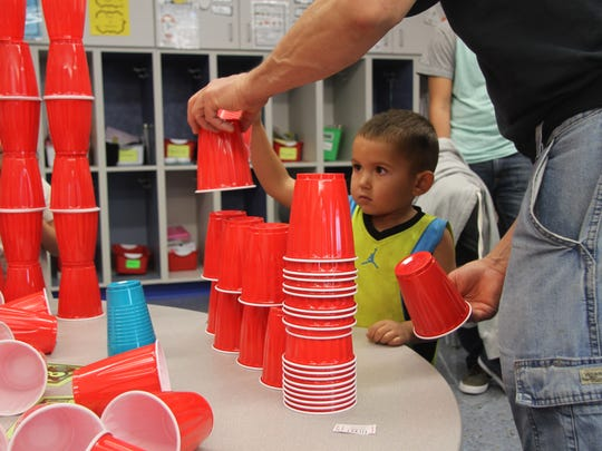 Families attended STEAM night at Ocotillo Elementary on Tuesday. More than 100 people attended the event.