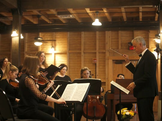 Music Director Scott Leaman leads Voces Angelorum as they perform  at the Goodwood Museum and Gardens. There spring concert is May 21.