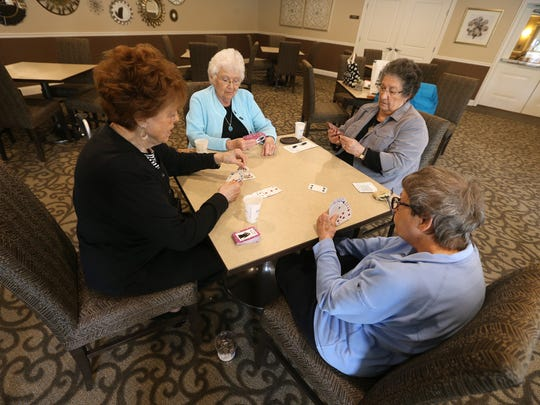 Residents of The Marquis at the Woods, a senior living