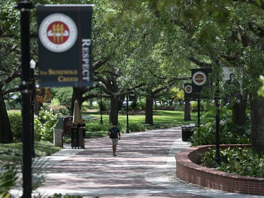 Florida State University's campus Thursday, May 11,