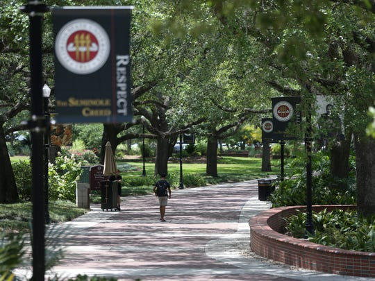 Florida State University's campus Thursday, May 11, 2017.