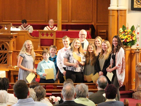 "The Youth Group and Sunday School kids at United Reformed Church, ""The Church on Main Street,"" have completed their program for the season with an impressive list of community service projects. At last Sunday's service, each child received a certificate of achievement in the excellence of community service, which totaled over 40 hours."