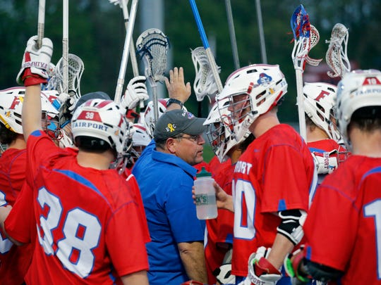 Fairport lacrosse coach Mike Torrelli  was approaching the 200 wins mark on May 9.