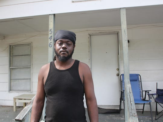 A car crashed into a home Friday on Kissimmee Street displacing Cerrone Rollins, 35, and his family,