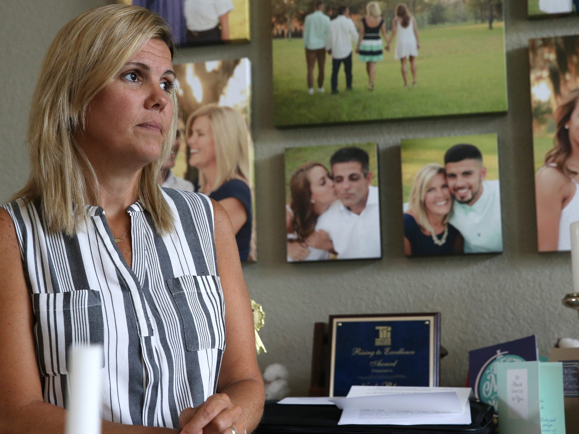 """Shelly Blanco stands in the dining room of the family home in Perry, Fla. on Friday, May 19, 2017. """"We are ready for Rudy to come home,"""" said Blanco of her husband who is being detained by Immigration and Customs Enforcement officials in Wakulla. """"We're ready for him not to be just a file sitting on someone's desk."""""""