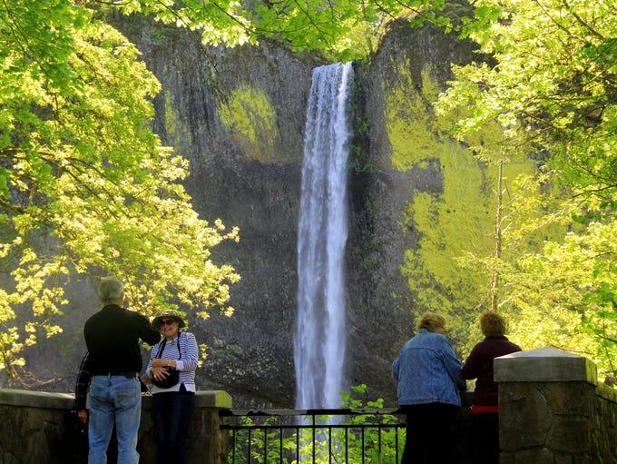 Latourell Falls in the Columbia River Gorge.