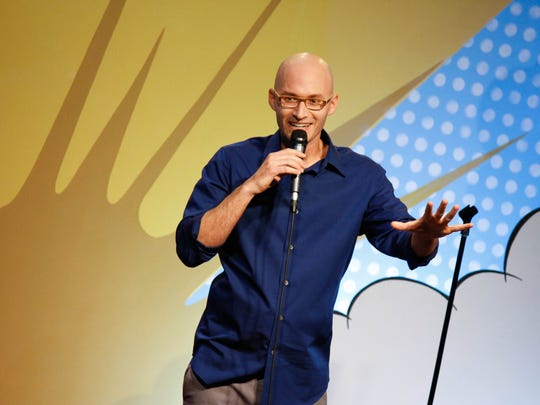 Comedian Eric Schwartz performs at Mesquite St. Comedy Club Friday.