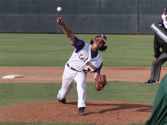 Senior righthander Miguel Salud leads the CLU baseball team with 11 saves. The Kingsmen open the Division III World Series on Friday against Wheaton College in Appleton, Wisconsin.