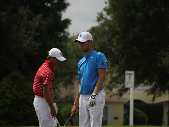 UWF golfer Chandler Blanchet at the Division II NCAA
