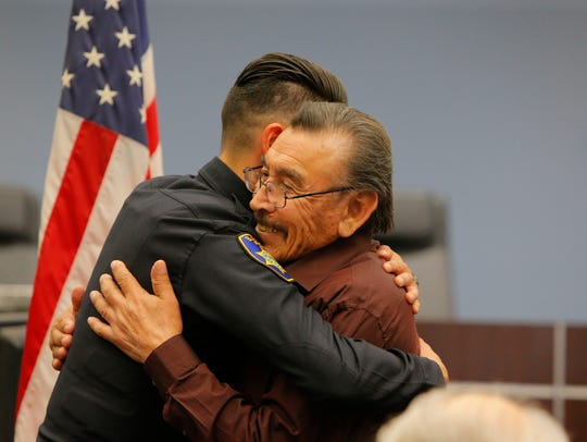 Six new Salinas police officers were welcomed to the