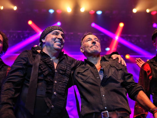Steven Van Zandt and Bruce Springsteen at the Count Basie Center in Red Bank.