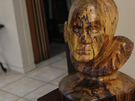 """""""Crackhead.""""  One carving by Rickey Lee, a master carver"""