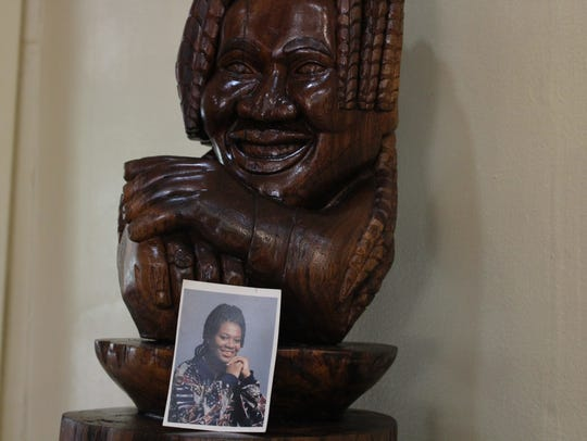 """""""Tasha."""" One carving by Rickey Lee, a master carver"""