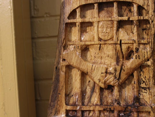 """""""Cell 2."""" One carving by Rickey Lee, a master carver"""