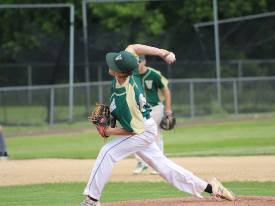 Vestal's Kyle Taborne pitches against Maine-Endwell