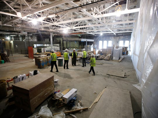New rehearsal hall: On the North wing, a sprung floor