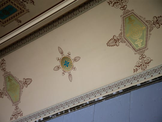 Corbett Tower features exquisite stenciling, discovered