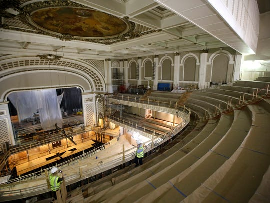 "Formerly a ""shoebox shape,"" the auditorium is now rounded"