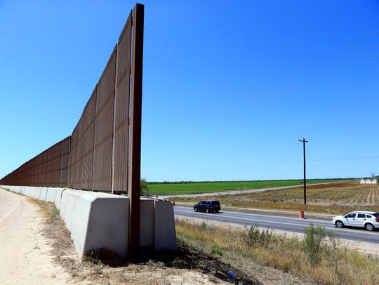 The border fence ends at the River Bend Resort & Golf