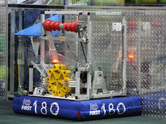 Competition for the Martin County S.P.A.M FRC Team 180.
