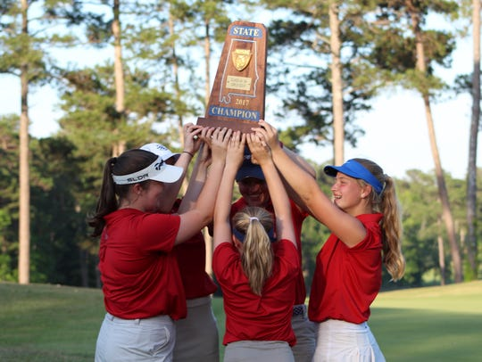 Trinity holds up the Class 4A-5A state championship