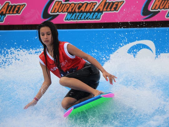 Hurricane Alley Waterpark, 702 E. Port Ave., will host the 2017 North America Flow Tour competition from 10 a.m. to 6 p.m. Saturday, June 10. The Flow Tour is flowboarding's premier competitive tour where international competitors will showcase their skills on Shredder, our FlowRider double, in front of judges, spectators and peers for a chance to win prizes, cash money and a national title. Cost: Park admission rates apply for spectators. Information: www.hurricanealleycc.com/flow-tour-competition.