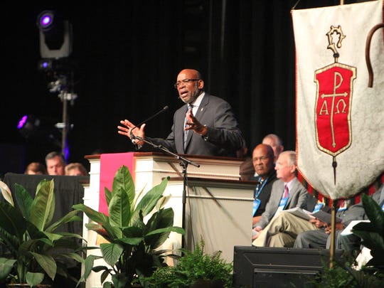 Bishop Jonathan Holston.