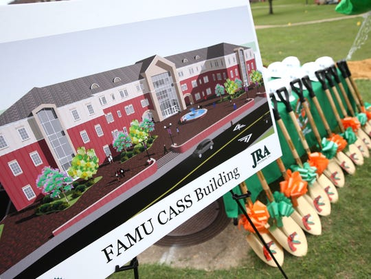 FAMU officials hold a ceremonial ground breaking for