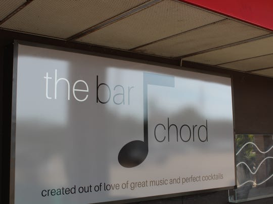 The sign outside The Bar Chord.