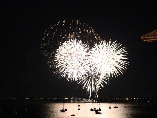 The joint fireworks between Perth Amboy and South Amboy
