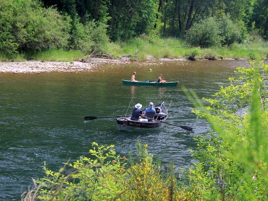 The number of steelhead returning to the North Santiam
