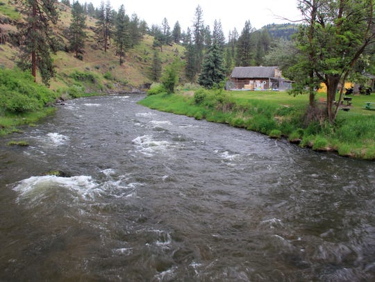 Middle Fork John Day River at Ritter Hot Springs.