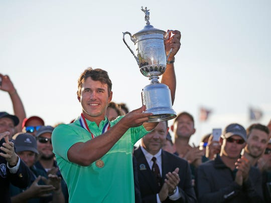 Brooks Koepka, who won the U.S. Open Championship at Erin Hills in 2017, will try for his third straight U.S. Open title this weekend. The only other person to do so was Willie Anderson, who was a golf pro at a golf course in Oconomowoc.