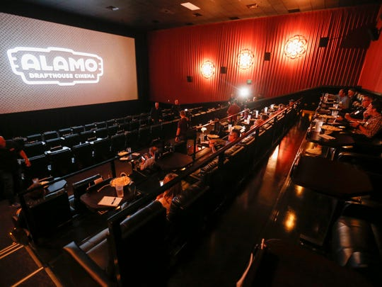 A look at one of the theaters inside of Alamo Drafthouse